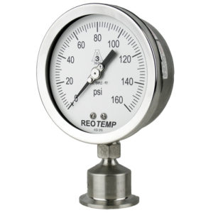 SG Sanitary Pressure Guage from ReoTemp, by Cellar Supply