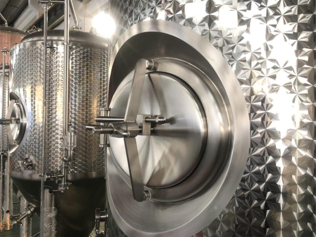 Fermenter with polished finish